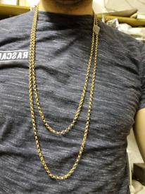 "9ct gold longard belcher chain 66"""