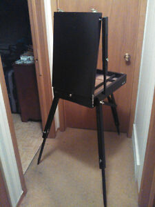 COMPACTING FOLD DOWN ART EASEL into own CARRY BOX Cambridge Kitchener Area image 1