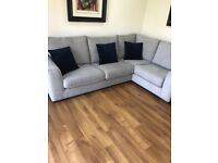 Corner Sofa with matching foot stool