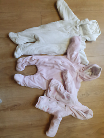 Baby Girls 0-3 and 3-6 months snowsuit and coat