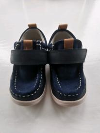 Clarks boys swede shoes