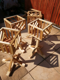 Wooden planters ready to go hand made