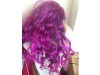 💗💗 Very long purple fun wig