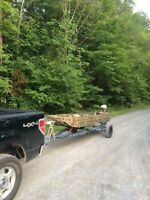 14ft Jon boat with 9.9 and trailer $2500 obo