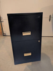 2 Drawer File Cabinet, Includes Key and Hanging Folder Frame