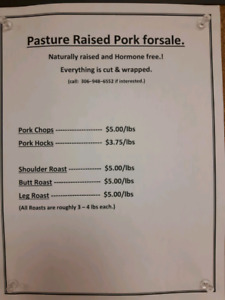Pasture raised pork forsale