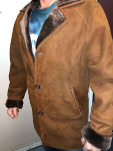Luxury men's sheepskin coat for sale