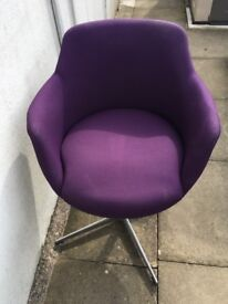 Beautiful purple chairs