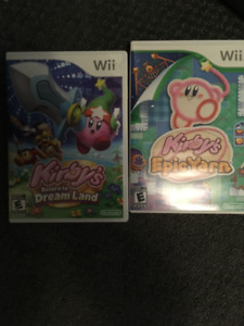SELLING 2 KIRBY GAMES FOR THE WII