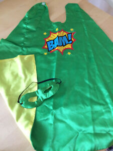 Mantle et masque de Halloween Super Hero, enfant 4-6 ans
