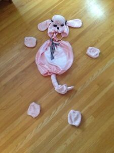 Pink poodle toddler/baby costume.