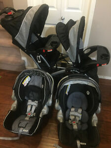 baby trend sit n stand double stroller and car seat