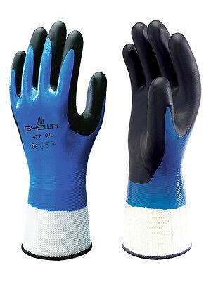 Showa 477 Insulated Nitrile Foam Grip Glovewaterproofwindproof 1 Pair Large