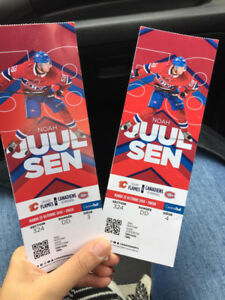 Canadiens vs Calgary flames 2 billets