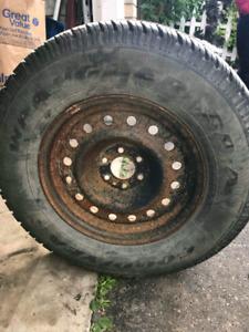 245/70R16 One tire and rim off of a 2003 dodge dakota