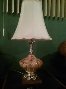 Lampe de table de style Vintage