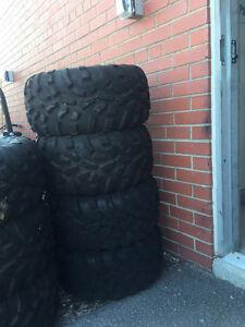 Brand New Carlisle ATV Rubber Tires (25 X 11-12)