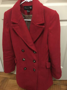 Red forever 21 coat! ONLY $50