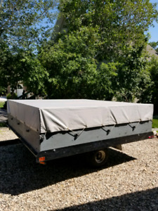 Snowmobile tilt trailer/covered utility trailer combo,$1,250.00