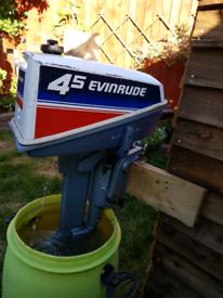 Outboard evinrude 4.5 short shaft