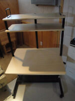 Large Computer desk with shelving