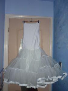 Wedding dress Tulle (white) - size XS-S
