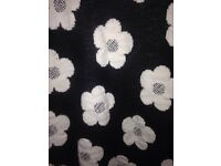 Black and white floral jumper -Size 16/18