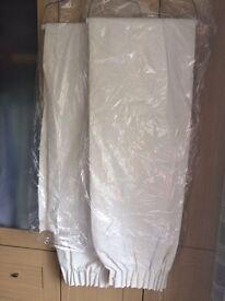 Cream cotton curtains