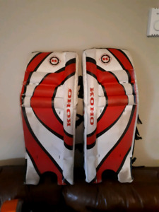 "27"" street hockey goalie pads"