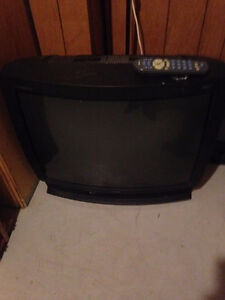 27'' tube tv with remote