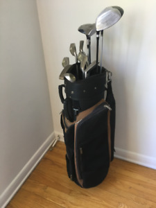 Mens Golf Clubs - Complete 12 clubs and bag