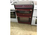 Belling Rose red and deep black Electric Cooker