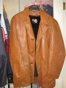 "Vintage 3/4 Length Thick Leather ""Shaft/Fight Club"" Jacket"
