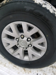 Toyota rims on tires asking $600
