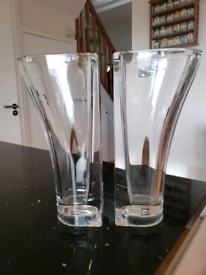 Lead Crystal matching vases