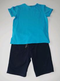 Boys shorts & t-shirt set size 7-8yrs