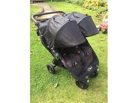 Baby Jogger City Mini GT Double Pushchair, Black