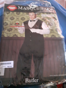 BRAND NEW MEN'S BUTLER COSTUME