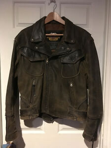 Harley Davidson Billings distressed leather Jacket size Medium