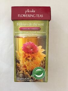 8 green tea flowers never opened, sealed individually