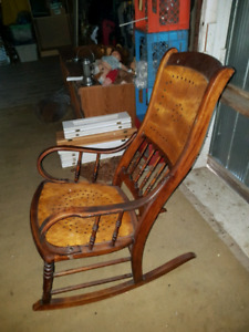 Rocking chair wood antique
