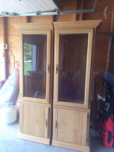 2 Solid Wood Cabinets - Les Meubles Poitras