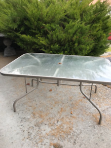 FREE glass patio table