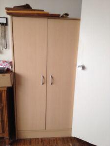 Like New 2 Door Storage Cabinet. 5 Shelves. Excellent Condition.