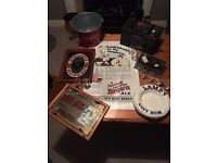 Breweriana tobacciana signs mirrors whisky jugs ice bucket collectables advertising