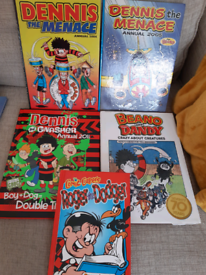 5 annuals, Dennis the Menace, Dennis and Gnasher