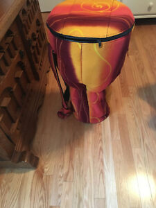 "30"" Synthetic djembe with case"