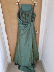 Iridescent Green Ball Gown Size 16