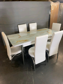 New brand Turkish made dinning table with 6 and 4 chairs available