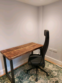 Bespoke industrial style office desk See our other range of home furniture